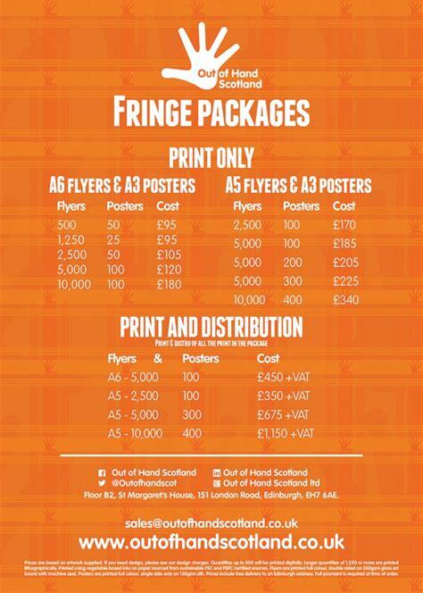 flyer design edinburgh edinburgh fringe poster flyer print out of hand scotland
