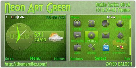 nokia c3 themes green neon art green theme for nokia c3 x2 01 themereflex