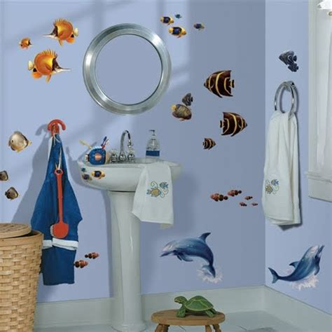kids bathroom wall stickers creative wall stickers ideas for decorating your bathroom modern home design gallery