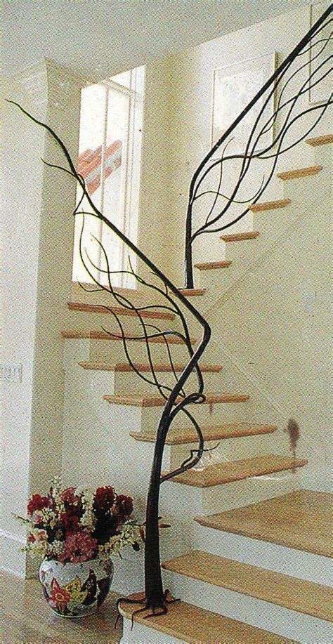 tree branch banister custom made tree staircase by metals nature custommade com