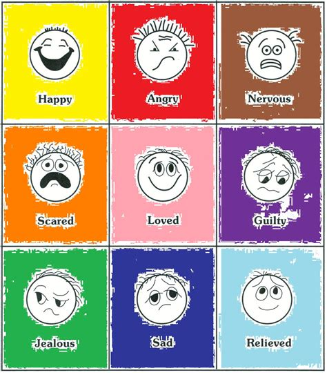 color feelings feelings clipart matching pencil and in color