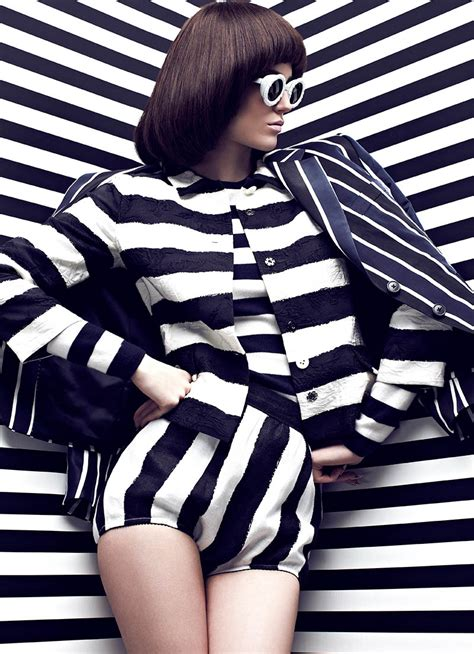 pattern fashion photography chris nicholls turns up the contrast for fashion magazine