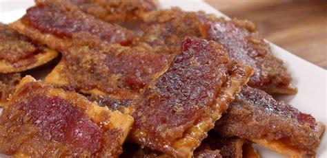 sweet crackers sweet bacon crackers