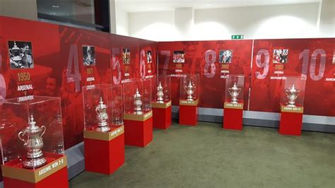 arsenal trophy the fa trophy room at emirates stadium picture of