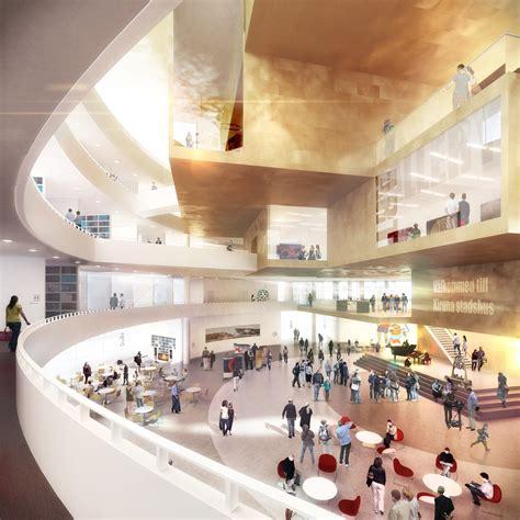 Foyer Architecture Gallery Of Kiruna City Henning Larsen Architects 6