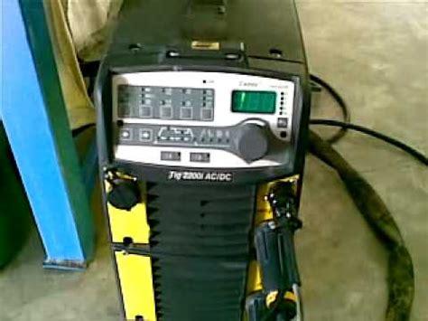 Mesin Las cara mengoperasikan mesin las tig esab 2200i mp4