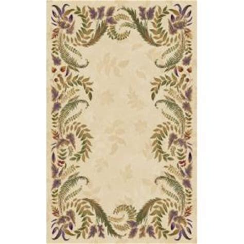 Beaulieu Home Fashions Area Rugs Industries Wisteria 7 Ft 9 In X 10 Ft 9 In Linen Room Size Rug Betterimprovement