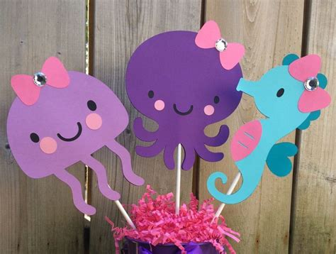 Seahorse Baby Shower Decorations by The Sea Centerpiece Baby Shower