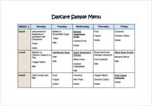 Preschool Menu Template by Daycare Menu Template Best Template Idea