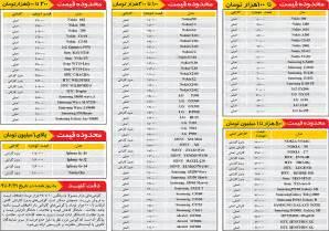 Image result for قیمت روز گوشی های سامسونگ
