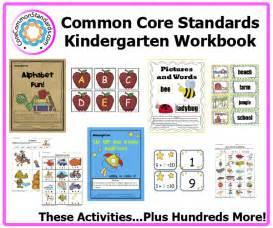 Kindergarten common core workbook download