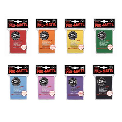 ultra pro pro matte sleeves card sleeves ultra pro pro matte solid colour standard sized