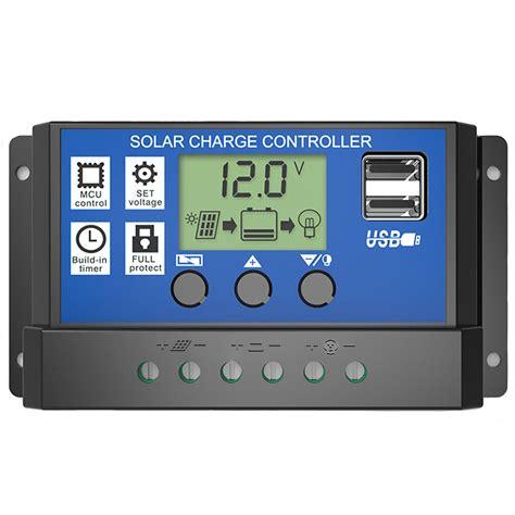Solar Charge Controller 12v 24v 20apanel Surya Charger Lcd 12v24v 20a 3 pwm 10 20 30a solar charge controller 12v 24v lcd display dual usb solar panel charge regulator