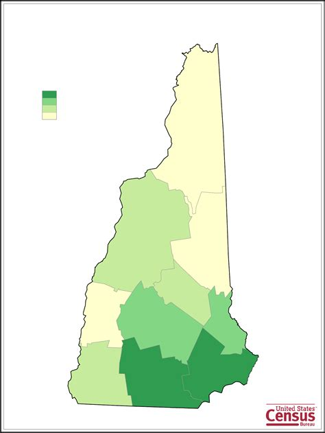 new hshire population map new hshire county population map free