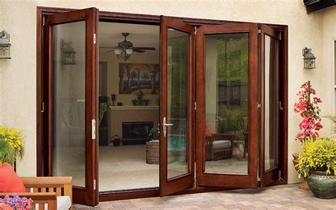 jeld wen folding patio doors folding patio door systems the inside and outside scoop