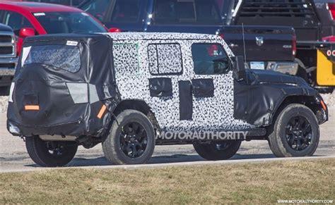 2018 jeep wrangler spy shots 2018 jeep wrangler specs leak full time 4wd available