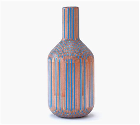 colored pencil vase hundreds of pencils turned into gorgeous vases by