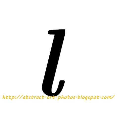 Small L by Abstract Pictures Collection Alphabet K And L