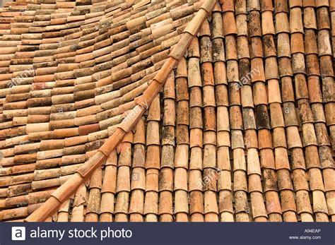 Terracotta Tile Roof Terracotta Roof Tiles Funchal Madeira Portugal Eu Europe Stock Image Delightful Terracotta