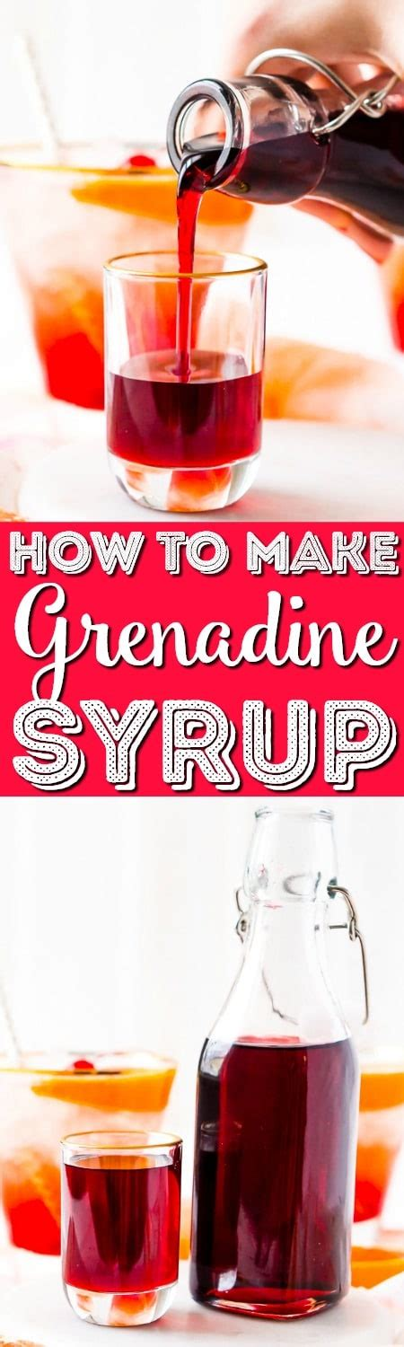 how to make homemade grenadine syrup sugar soul