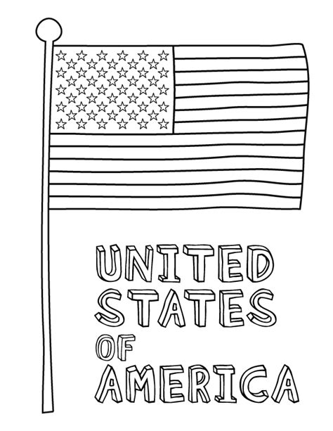 Printable American Coloring Pages american flag coloring page free printable pictures