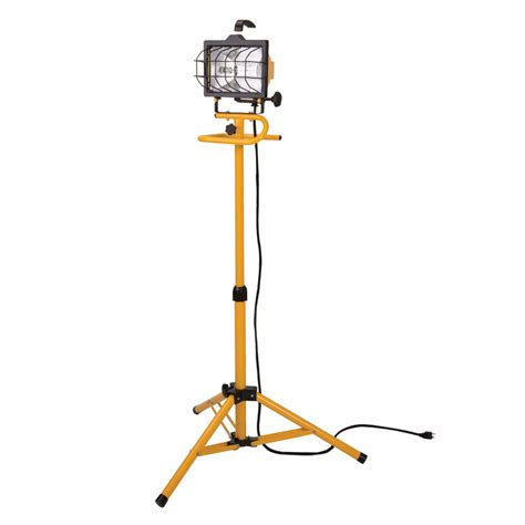 light stand shop utilitech 500 watt halogen stand work light at lowes com
