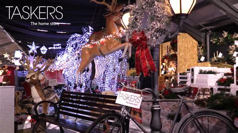 take a walk through taskers huge christmas department