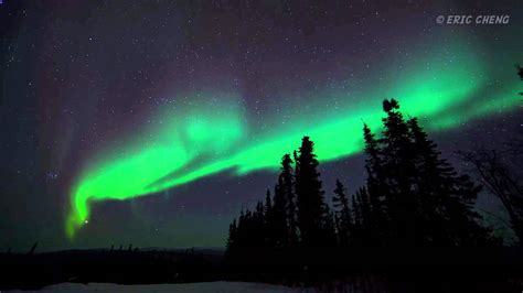 borealis northern lights in alaska timelapse