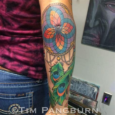 new school elbow tattoo timpangburn dreamcatcher tattoo tattoos color color tattoo