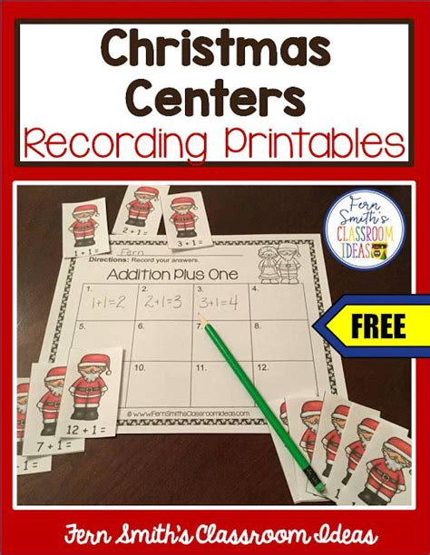 free printable christmas games for the classroom classroom freebies fern smith s free christmas centers
