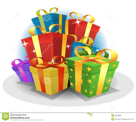 happy birthday gifts pack stock vector image of retail