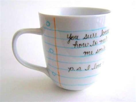 Handwritten Cup Designs : Notebook Paper Coffee Mug