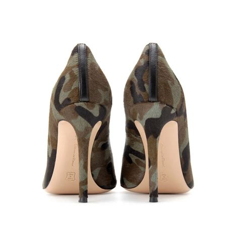 army pattern shoes gianvito rossi camouflage haircalf pumps with tassels in