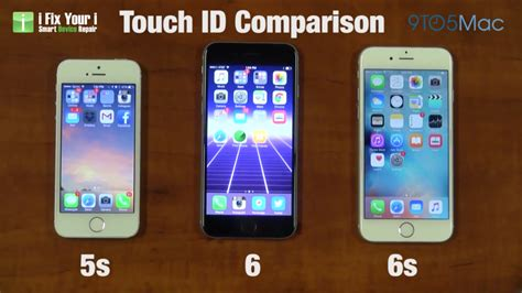 compare touch id speeds  iphone