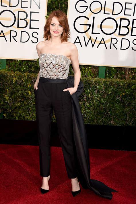Emma Stone Jumpsuit | emma stone golden globes jumpsuit 2015 popsugar fashion