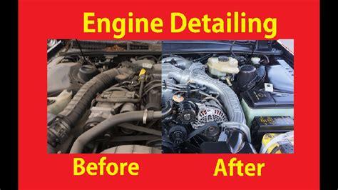 diy engine cleaning detail motors   de grease car motor  youtube