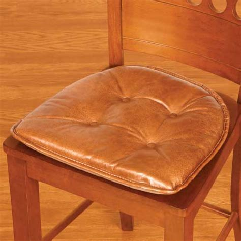 Leather With Fabric Seat Cushions by Make A Faux Leather Seat Cushion
