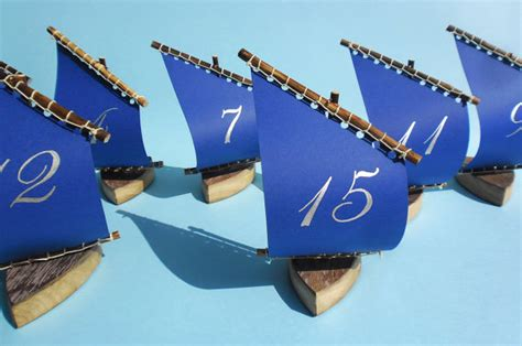sailboat numbers a treasure chest of romance with a nautical wedding table plan