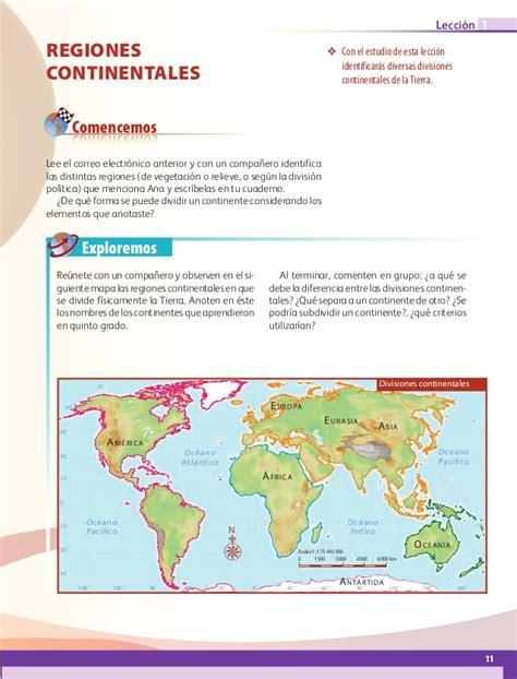 geografia 6 grado slideshare libro de texto geograf 237 a 6to grado 2014