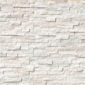 arctic white ledger panel natural quartzite wall tile