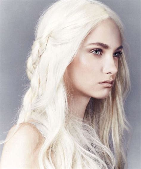women with platinum hair white hair emilia clarke game of thrones color me