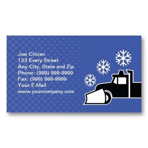 Snow Plowing Business Card Template by 1000 Images About Snow Removal Business Cards On