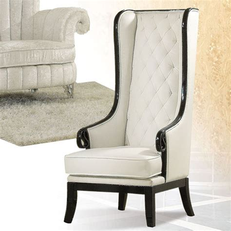 White Accent Chair Dreamfurniture 59128 Pedro Black White Finish Accent Chair