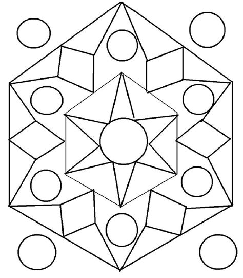 designs to color for kids rangoli design coloring printable page for kids 1
