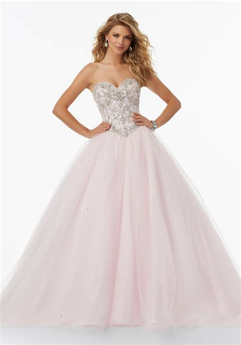 beaded tulle gown tulle prom gown with beaded sweetheart bodice style