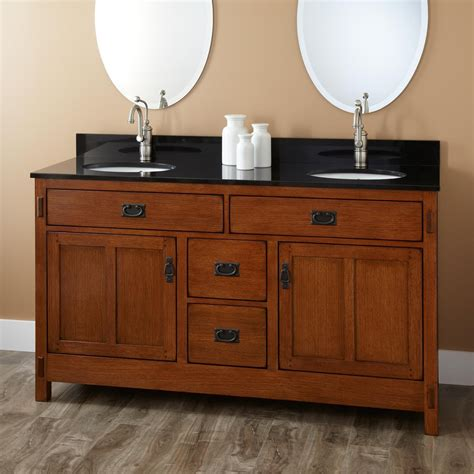 Oak Bathroom Vanities 60 Quot Halstead Vanity For Undermount Sinks Bathroom