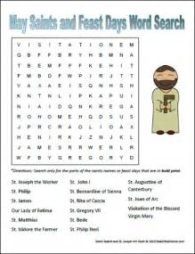 may saints and feast days word search for catholic kids