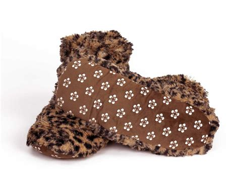 microwavable boot slippers cozy leopard slippers boots microwavable slippers