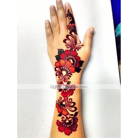 henna colored tattoo ink colored golecha henna cone paste