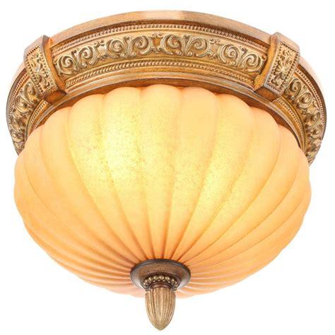 chateau ceiling fan hton bay chateau 2 light walnut flushmount